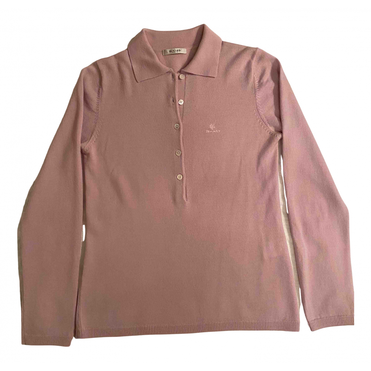 Sand \N Pullover in  Rosa Wolle