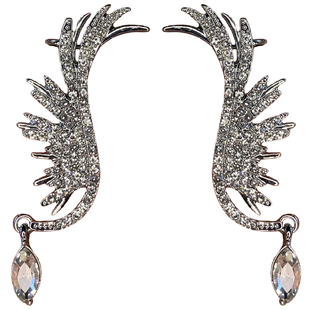 Non Signe / Unsigned Motifs Animaliers OhrRing in  Silber Metall