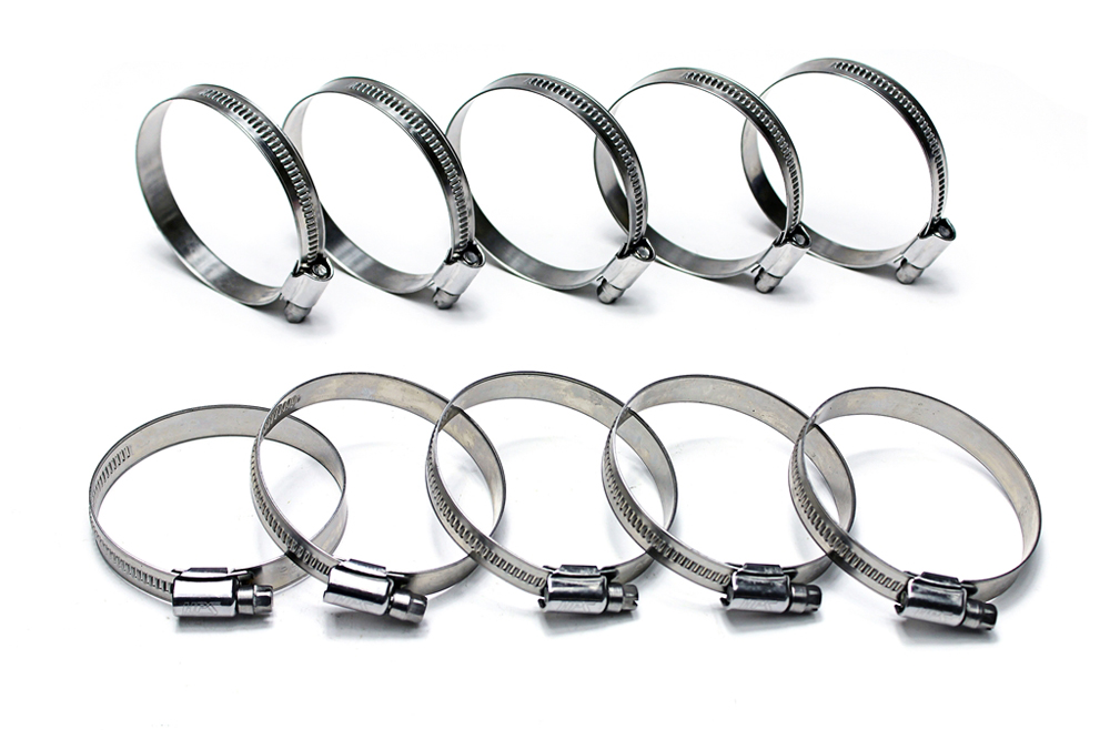 HPS Stainless Steel Embossed Hose Clamps SAE 16 10pc Pack 1-1/16
