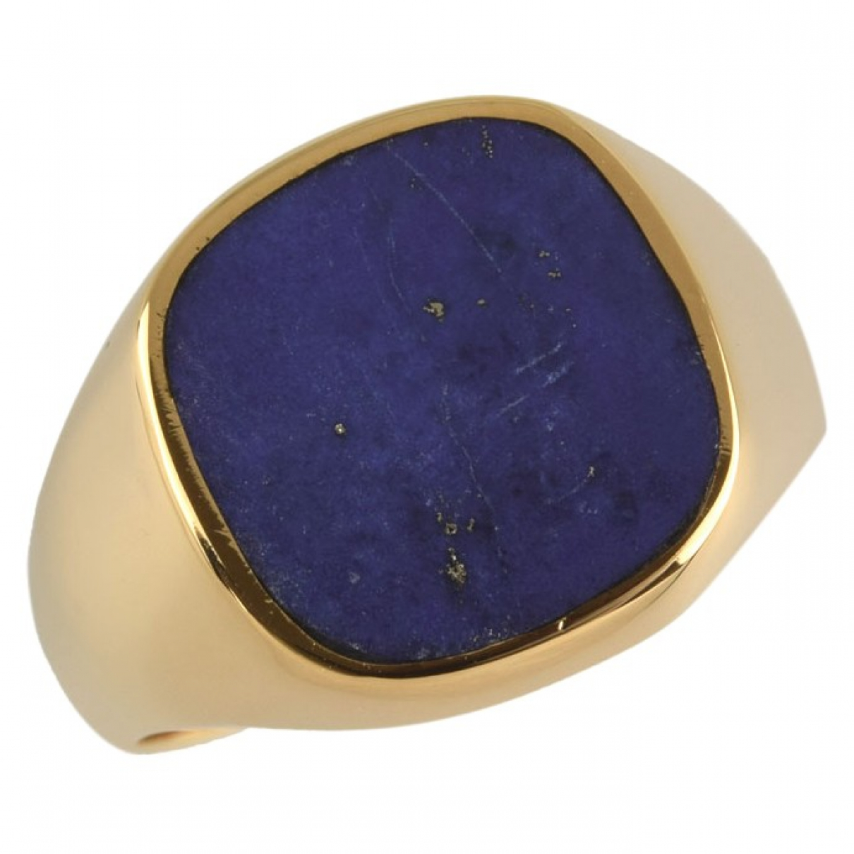 Non Signé / Unsigned \N Navy Yellow gold ring for Women 59 EU