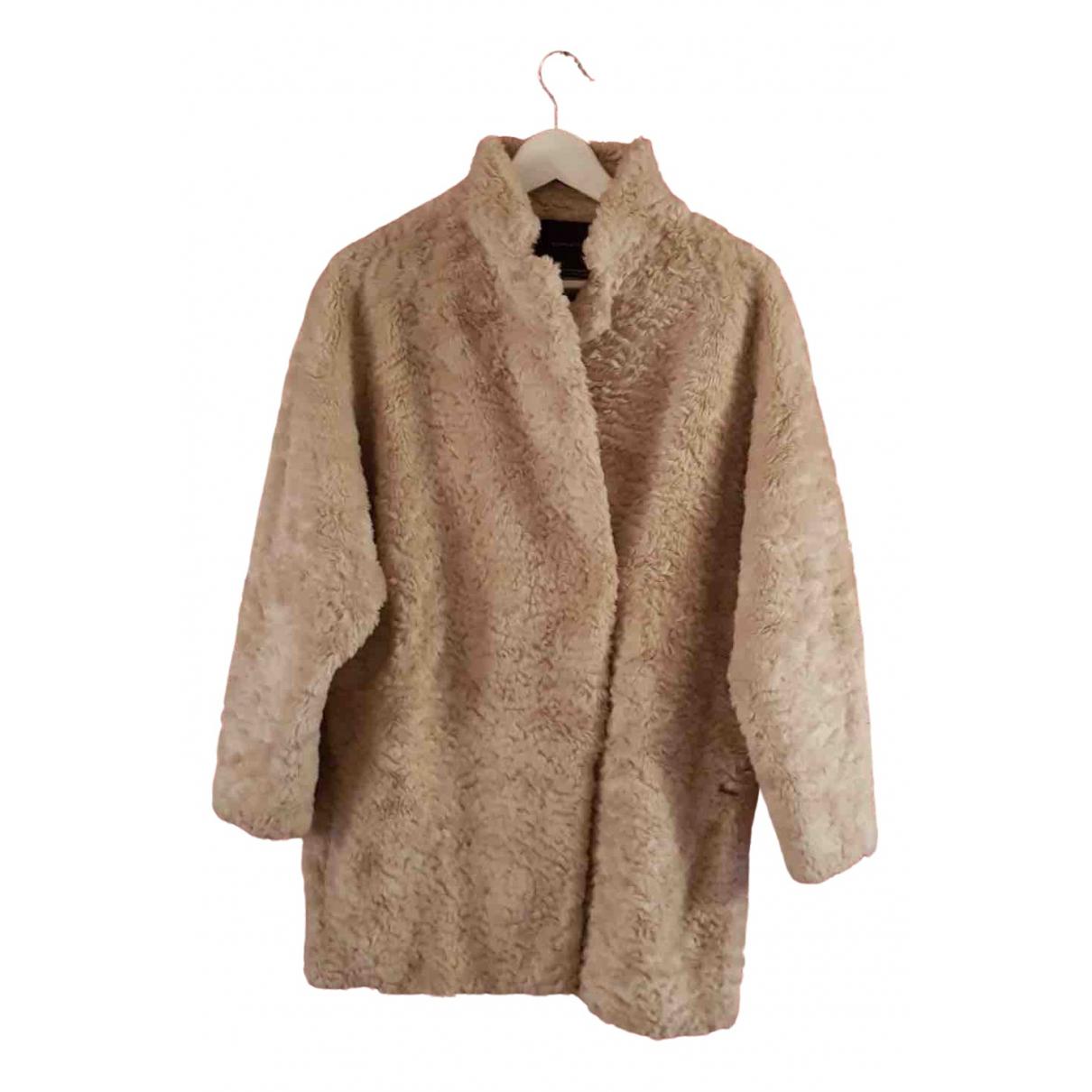 Maison Scotch \N Beige Faux fur coat for Women 42 IT