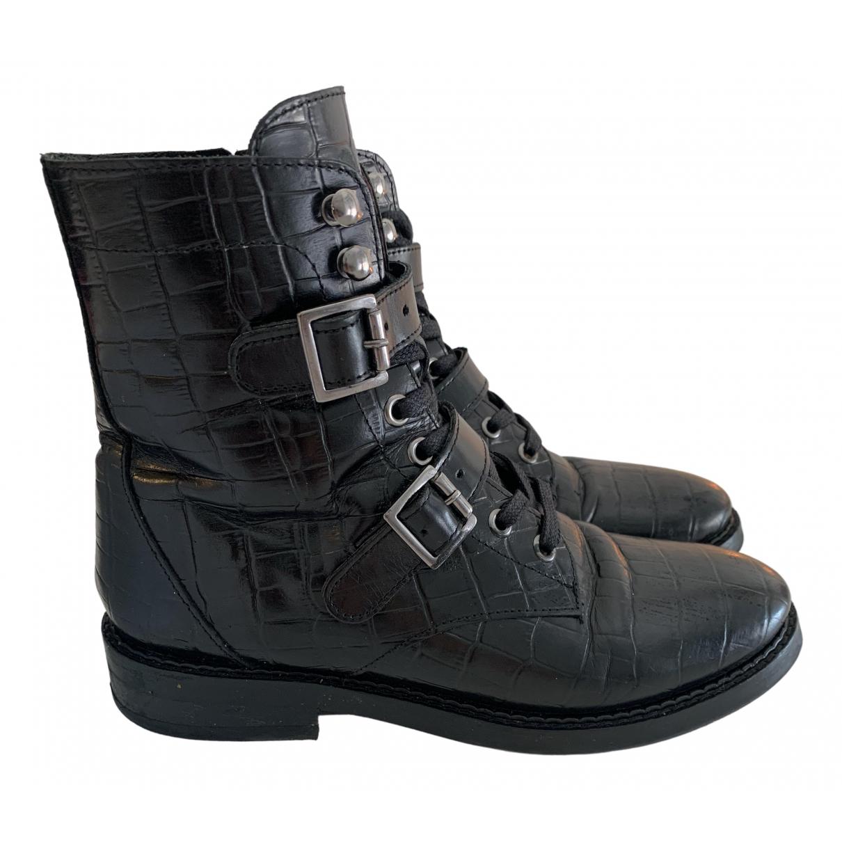 Jonak - Bottes   pour femme en cuir - noir