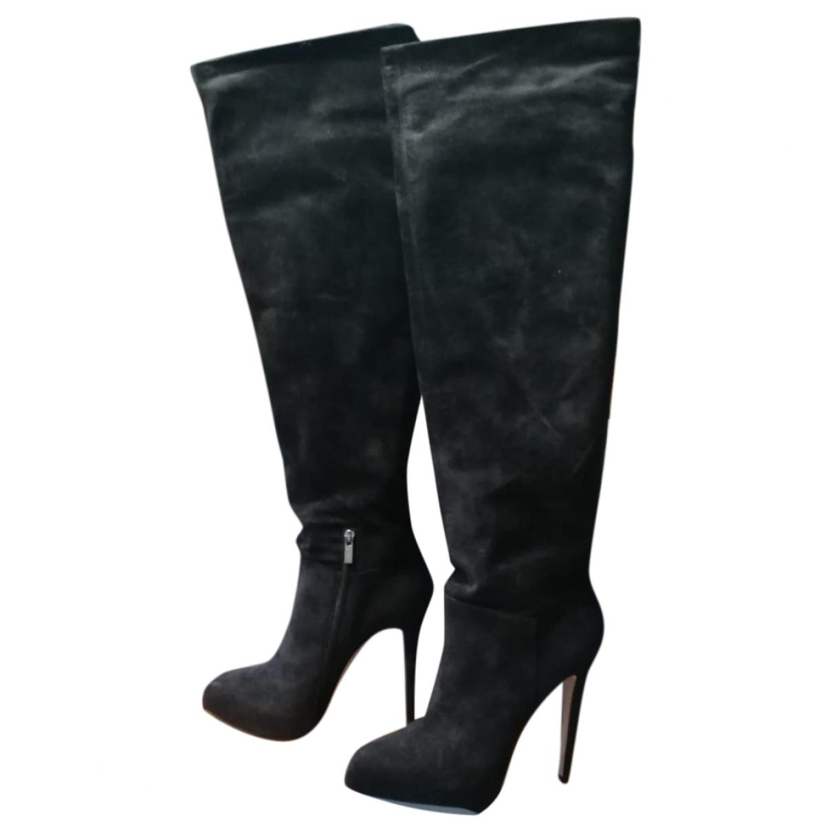 Le Silla - Bottes   pour femme en velours - noir