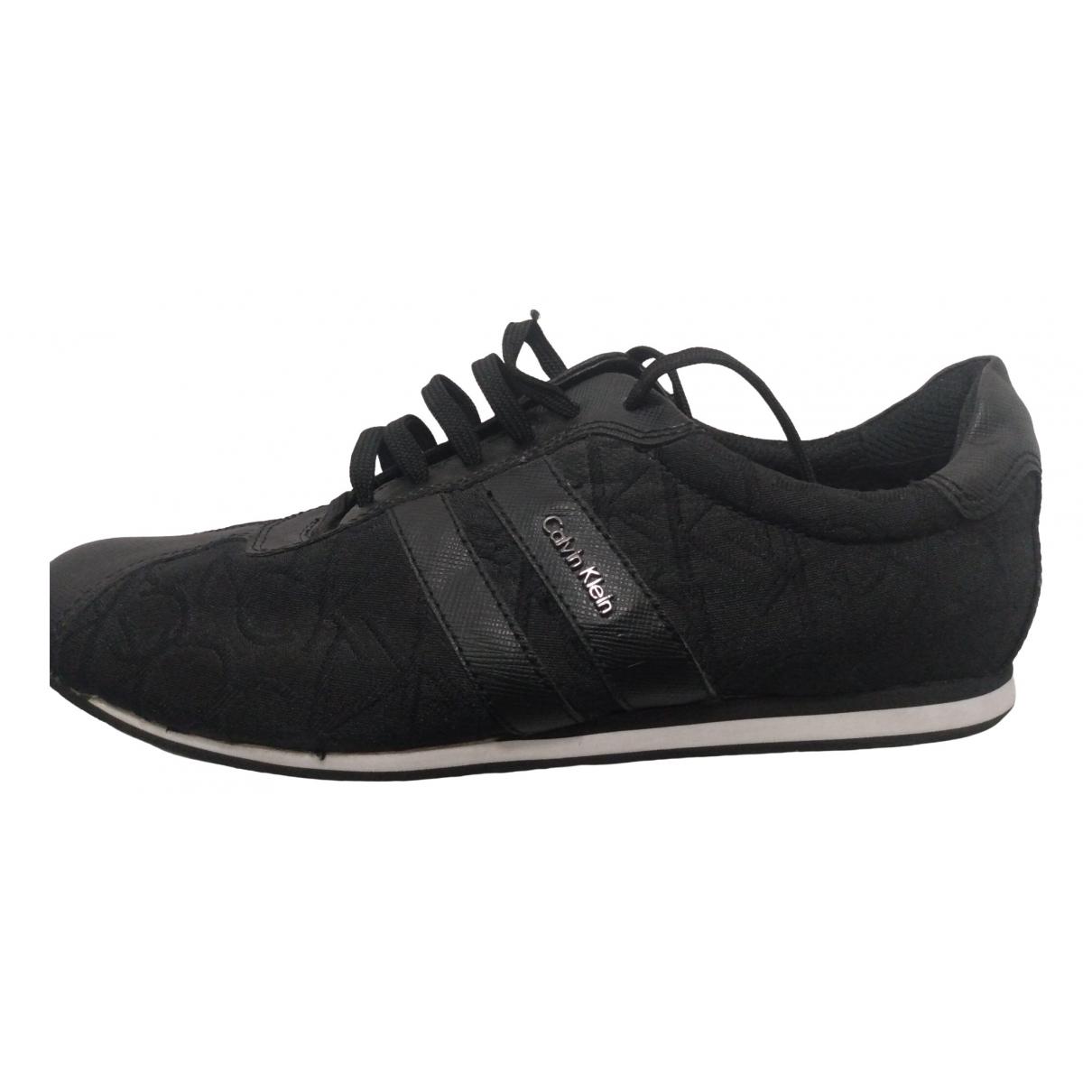 Calvin Klein \N Sneakers in  Schwarz Leinen