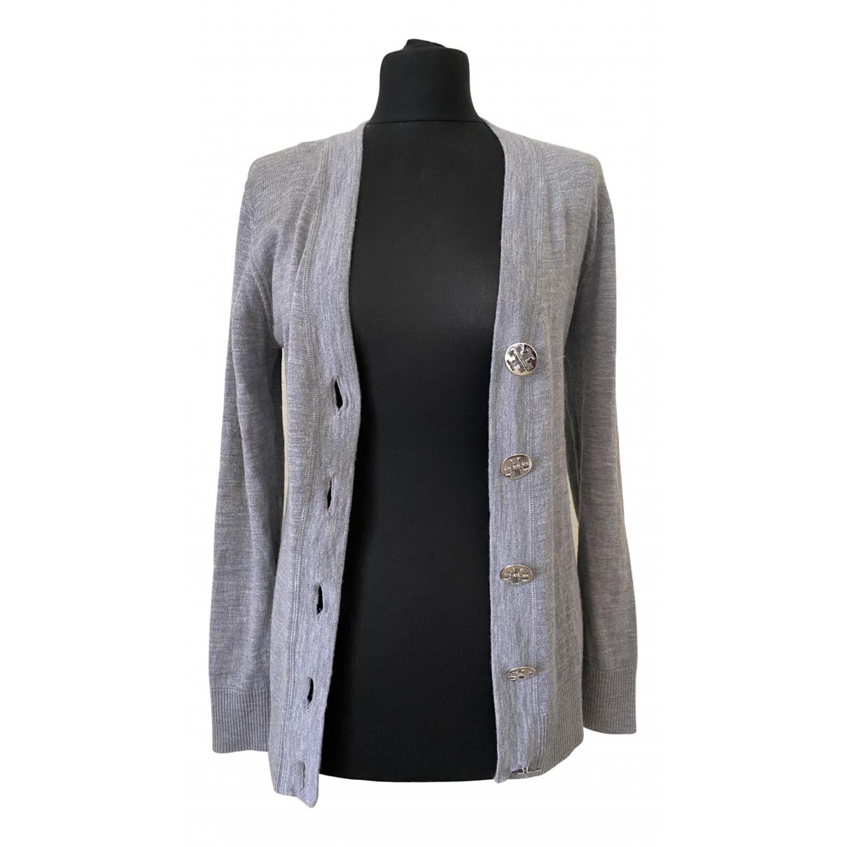 Tory Burch - Pull   pour femme en laine - gris