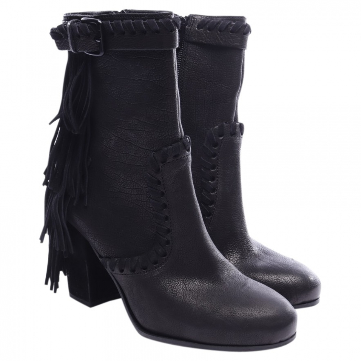 Kennel Und Schmenger \N Black Leather Ankle boots for Women 39.5 EU