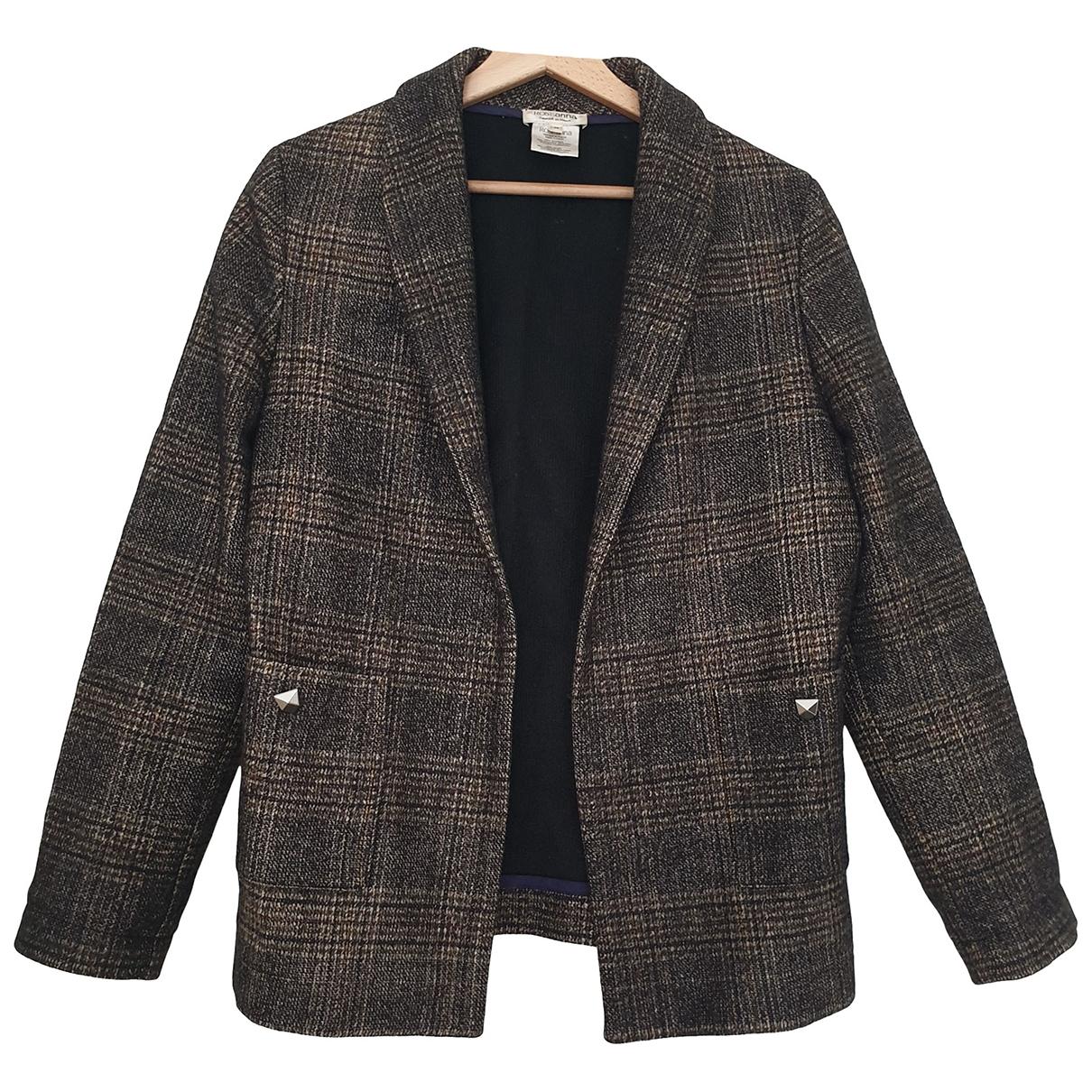 Roseanna - Veste   pour femme en laine - anthracite