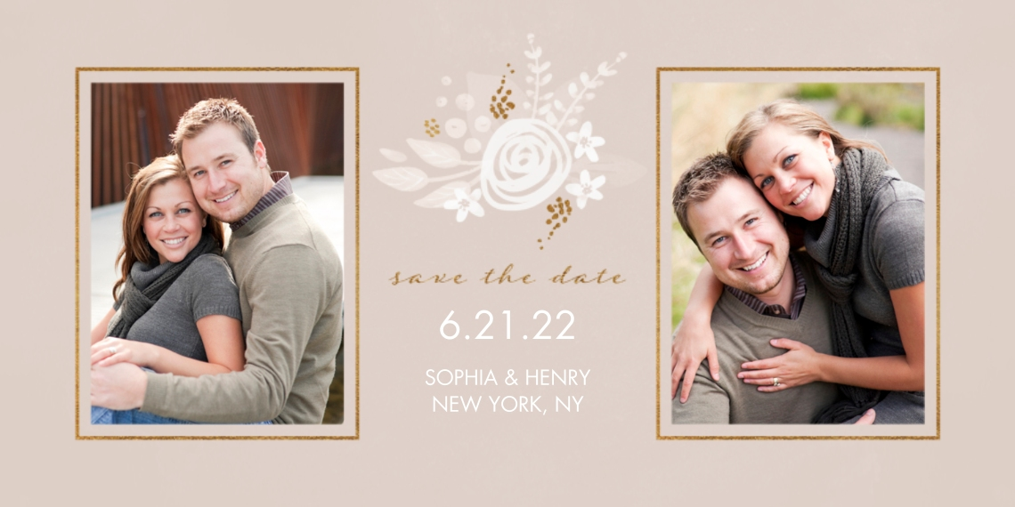 Save the Date Flat Matte Photo Paper Cards with Envelopes, 4x8, Card & Stationery -Nature's Love Save The Date