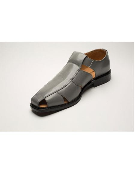 Men's Two Toned Grey Casual Sandal Shoes