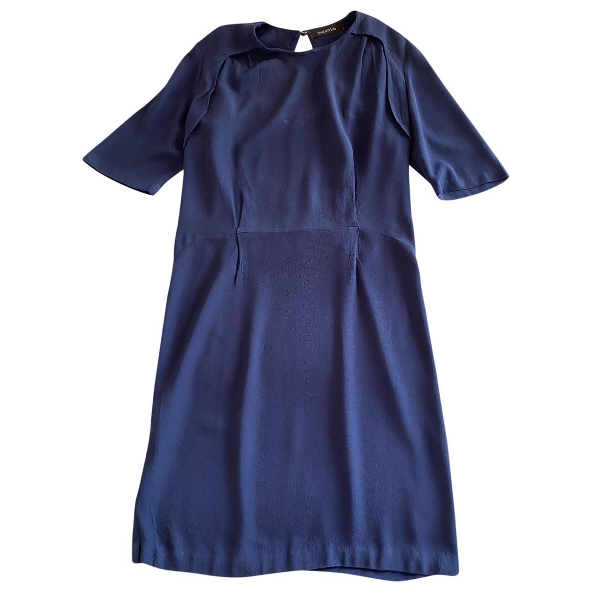 Bimba Y Lola \N Kleid in  Blau Polyester