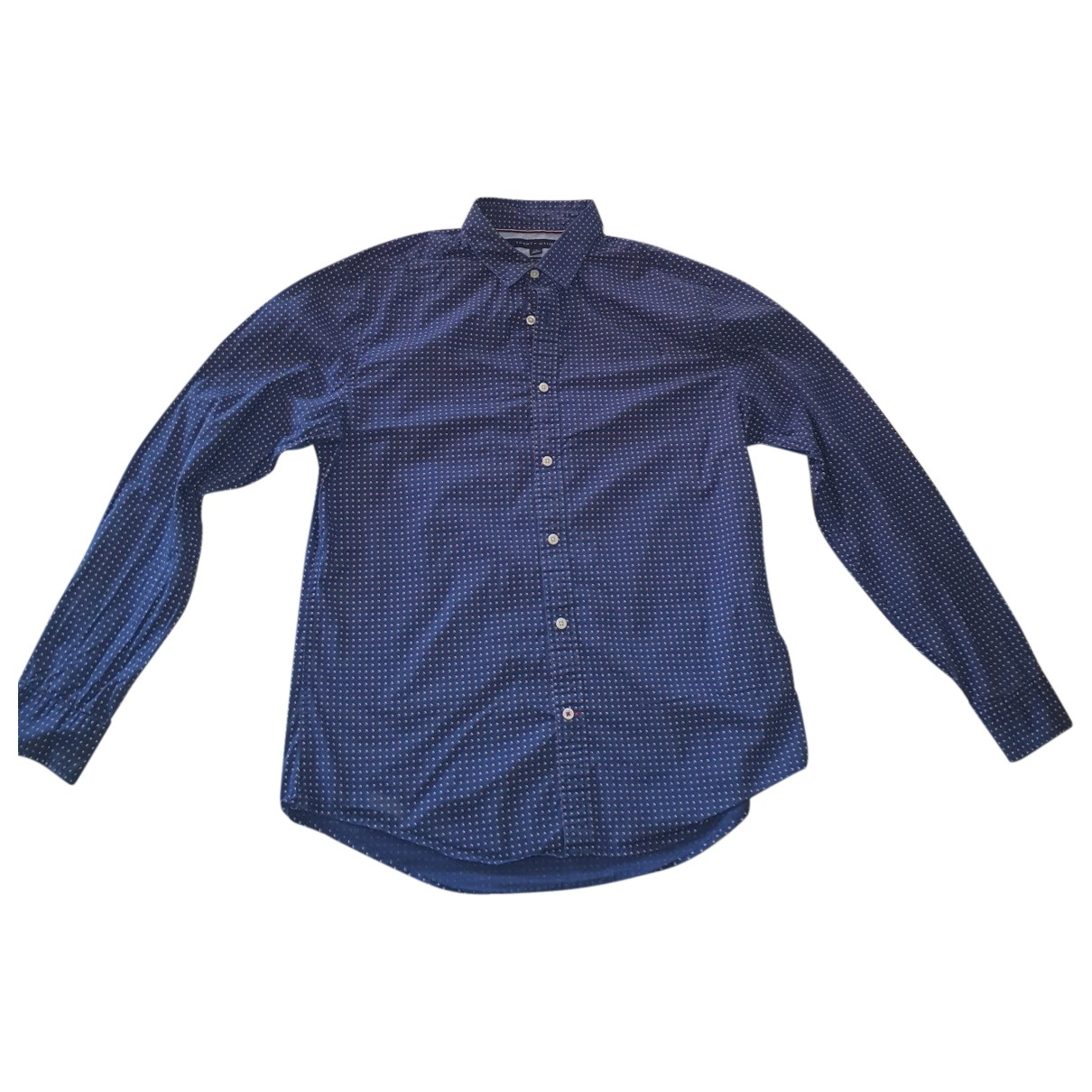 Tommy Hilfiger \N Blue Cotton Shirts for Men L International