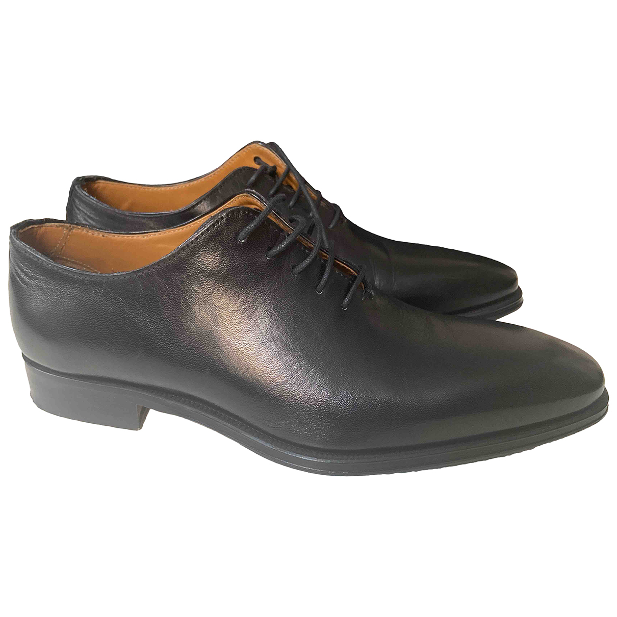 Non Signé / Unsigned \N Black Leather Lace ups for Men 40.5 IT