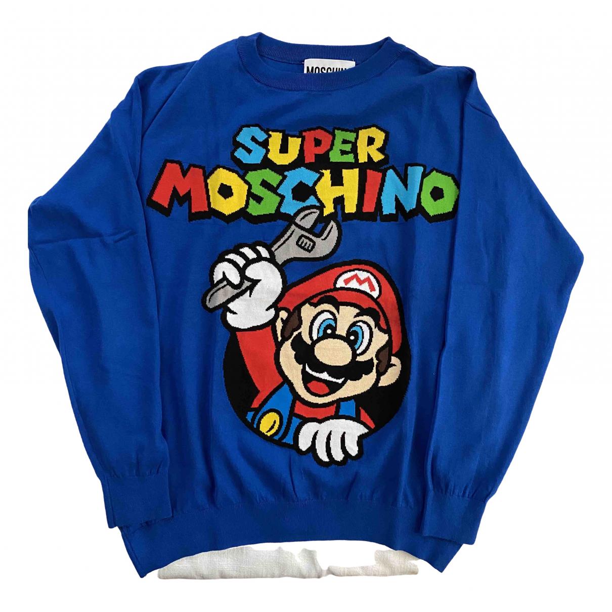 Moschino \N Pullover.Westen.Sweatshirts  in  Blau Baumwolle