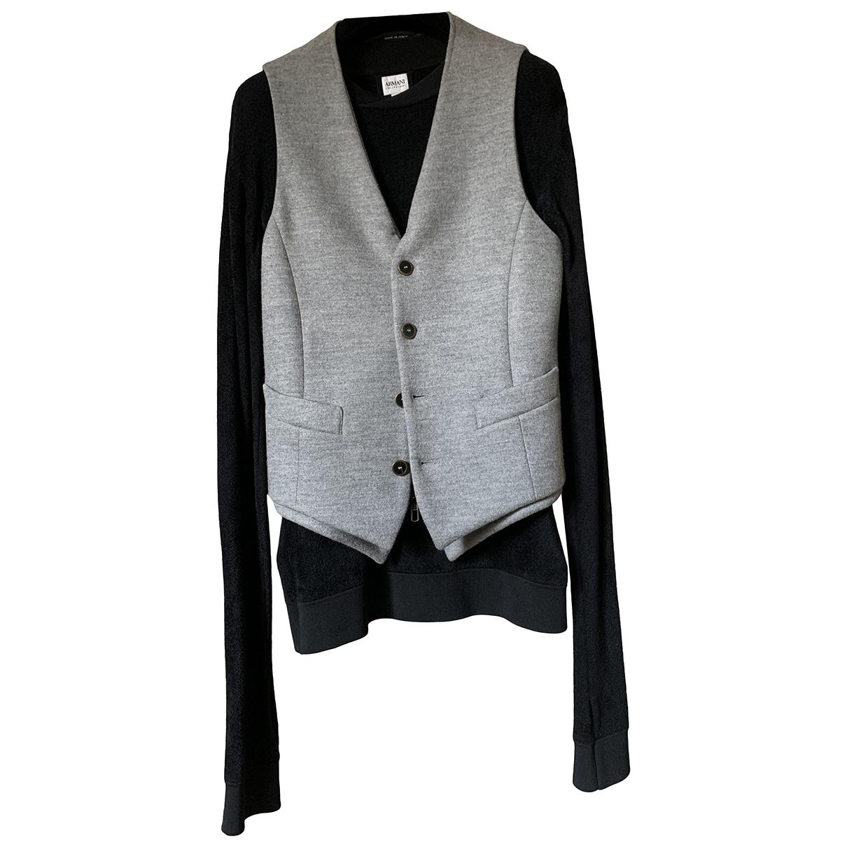 Giorgio Armani \N Jacke in  Grau Wolle