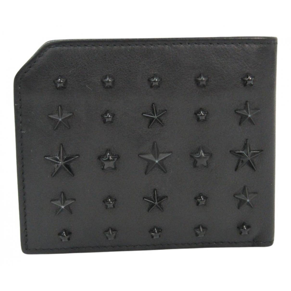 Jimmy Choo - Portefeuille   pour femme en cuir - noir