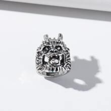 Ring mit Drachenkopf Design