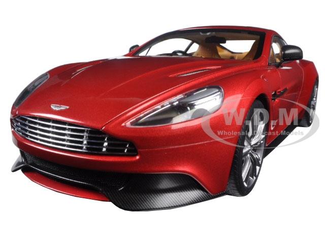 Aston Martin Vanquish Volcano Red 1/18 Model Car by Autoart