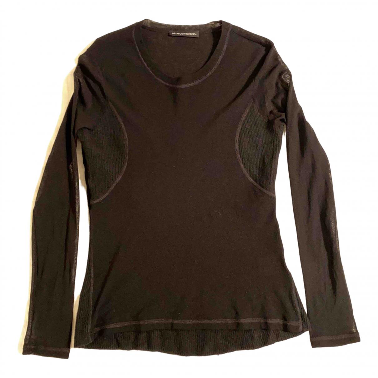 Nice Connection - Pull   pour femme en laine - noir