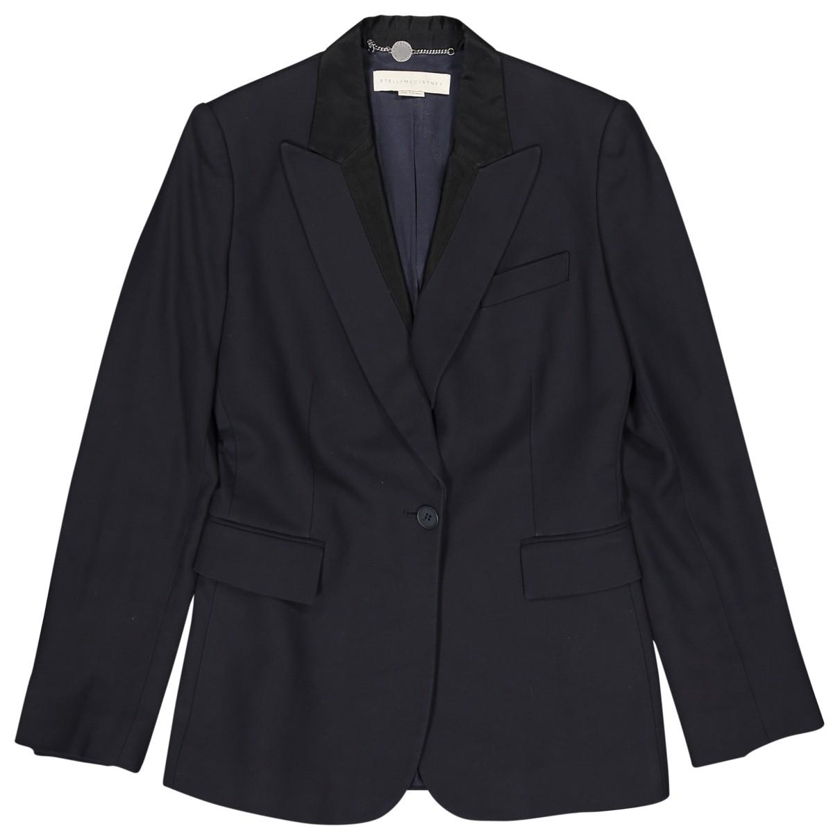 Stella Mccartney \N Navy Cotton jacket for Women 42 IT