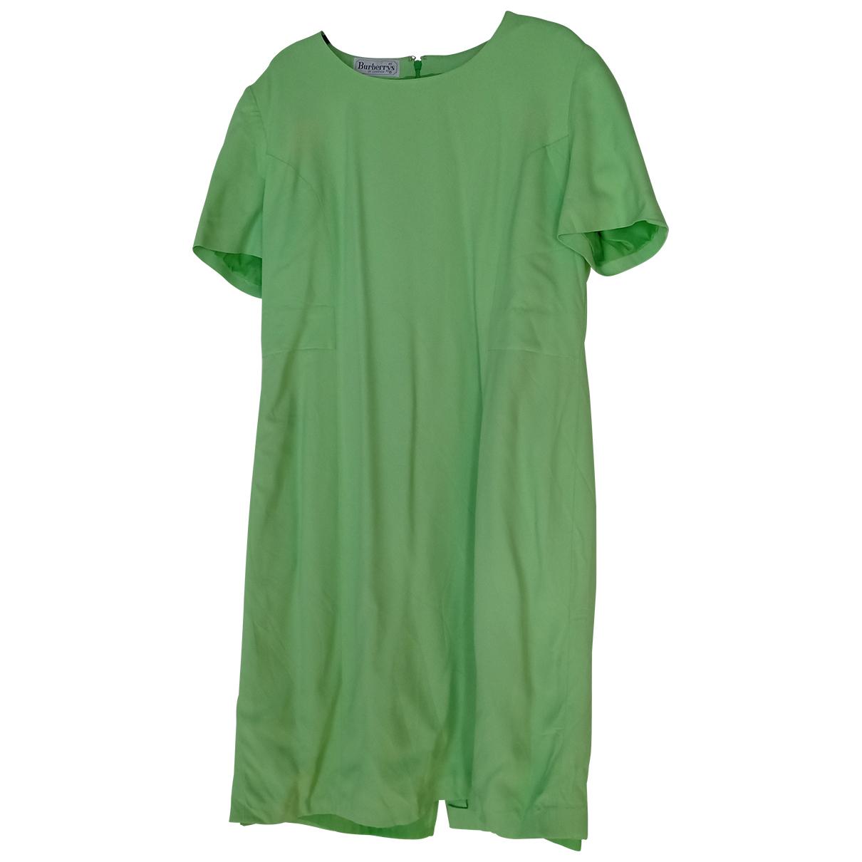 Burberry \N Kleid in  Gruen Baumwolle
