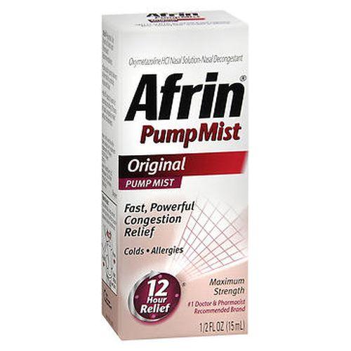 Afrin Original Nasal Decongestant Pump Mist 0.5 Oz by Afrin
