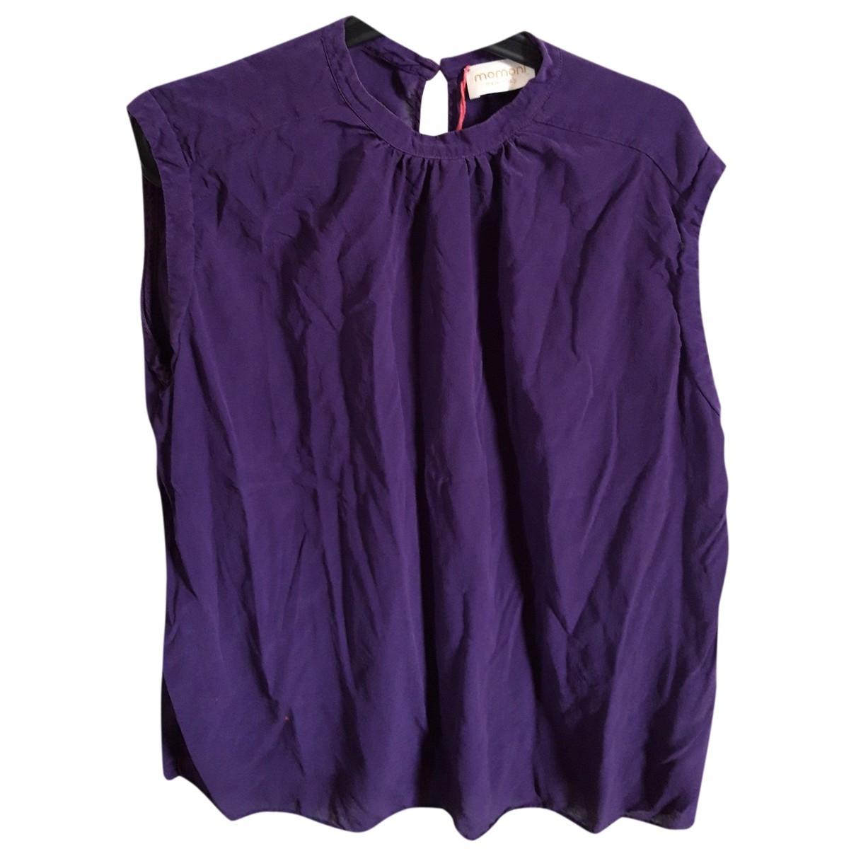 Momoni - Top   pour femme en soie - violet