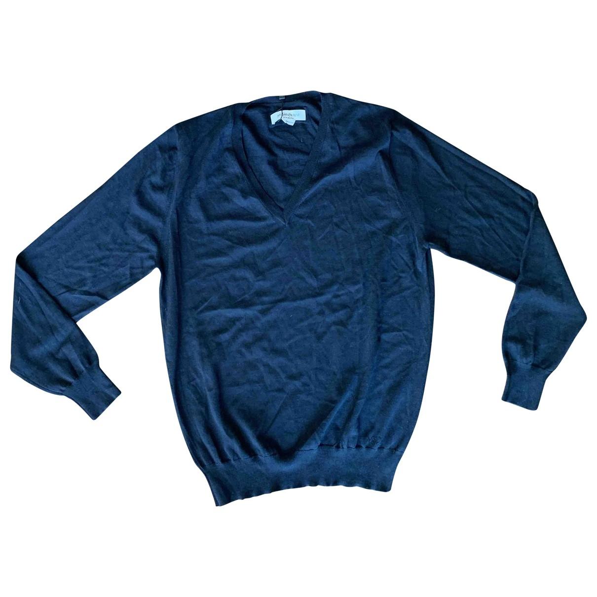 Yves Saint Laurent \N Pullover.Westen.Sweatshirts  in  Schwarz Wolle