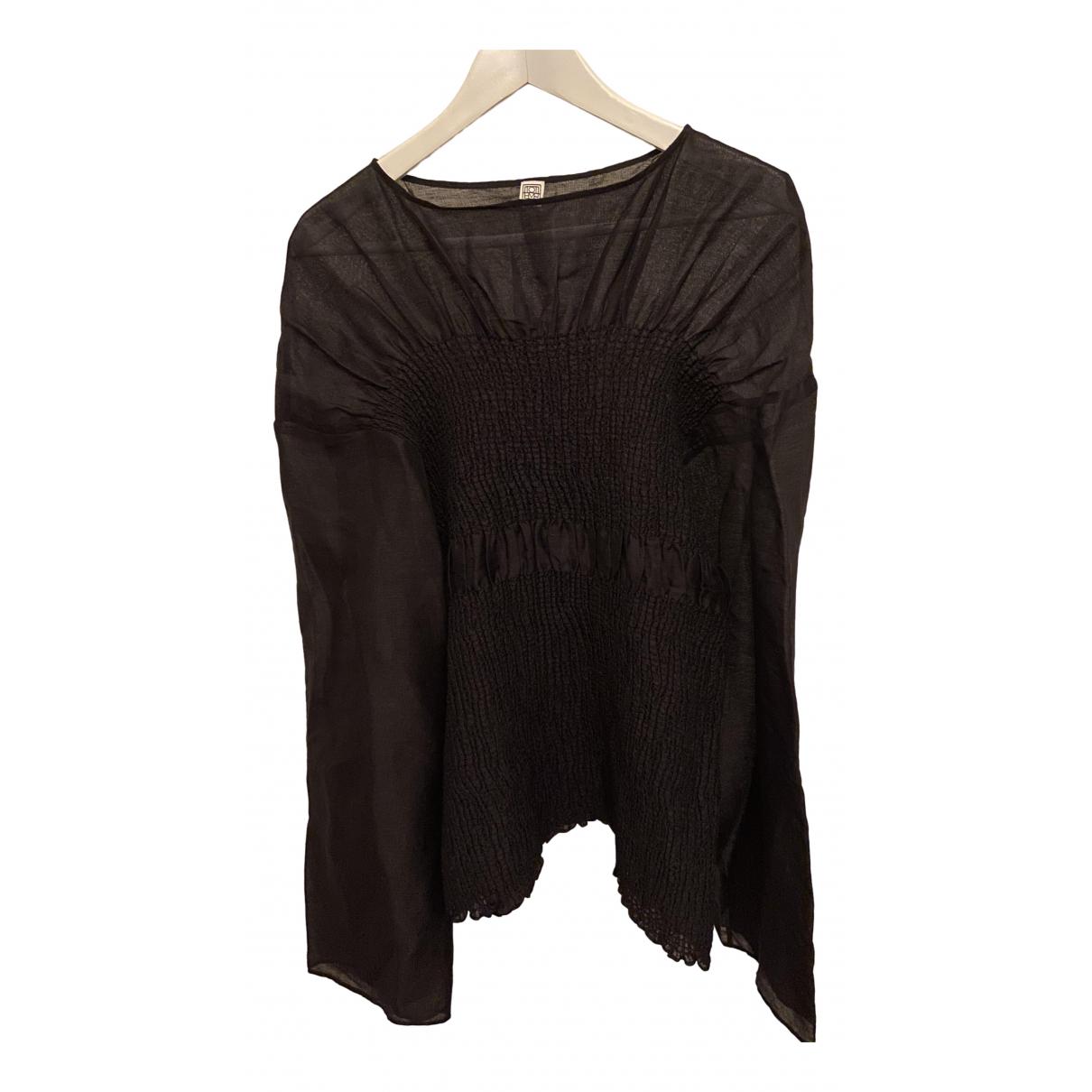 Toteme - Top   pour femme en soie - noir