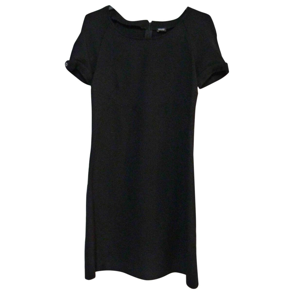 Versace Jeans \N Kleid in  Schwarz Wolle