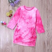 Vestido camiseta de tie dye