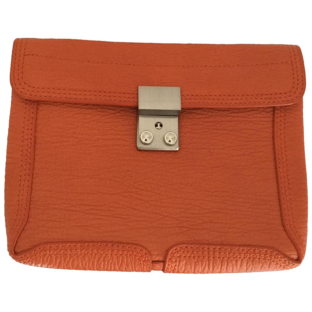 3.1 Phillip Lim - Pochette Pashli pour femme en cuir - orange
