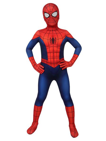 Milanoo Halloween Spider-Man Cosplay Spider Man Lycra Spandex Ture Rojo Pelicula Marvel Cosplay Comics
