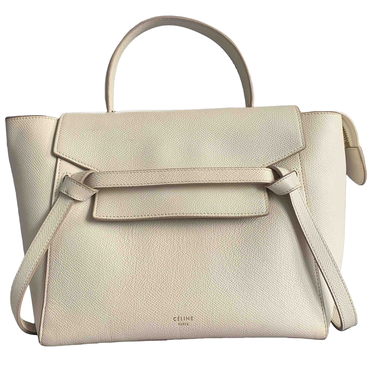 Celine Belt Handtasche in  Beige Leder
