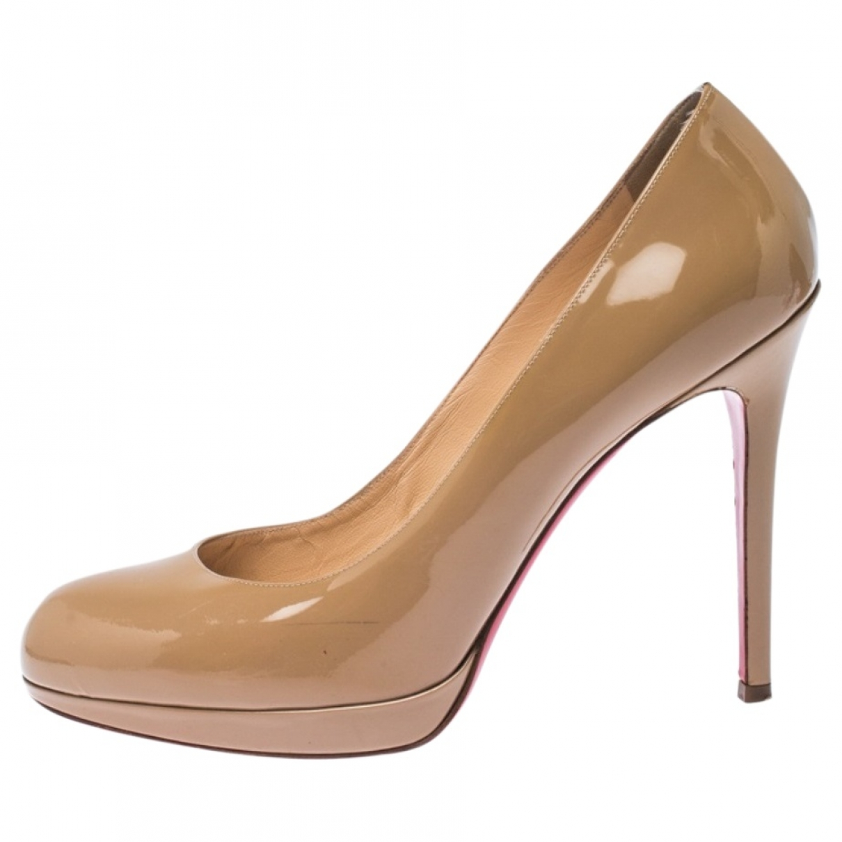Christian Louboutin Bianca Beige Patent leather Heels for Women 40 EU