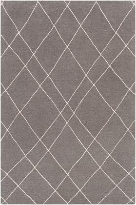 Sinop SNP-2305 4' x 6' Rectangle Global Rug in Charcoal