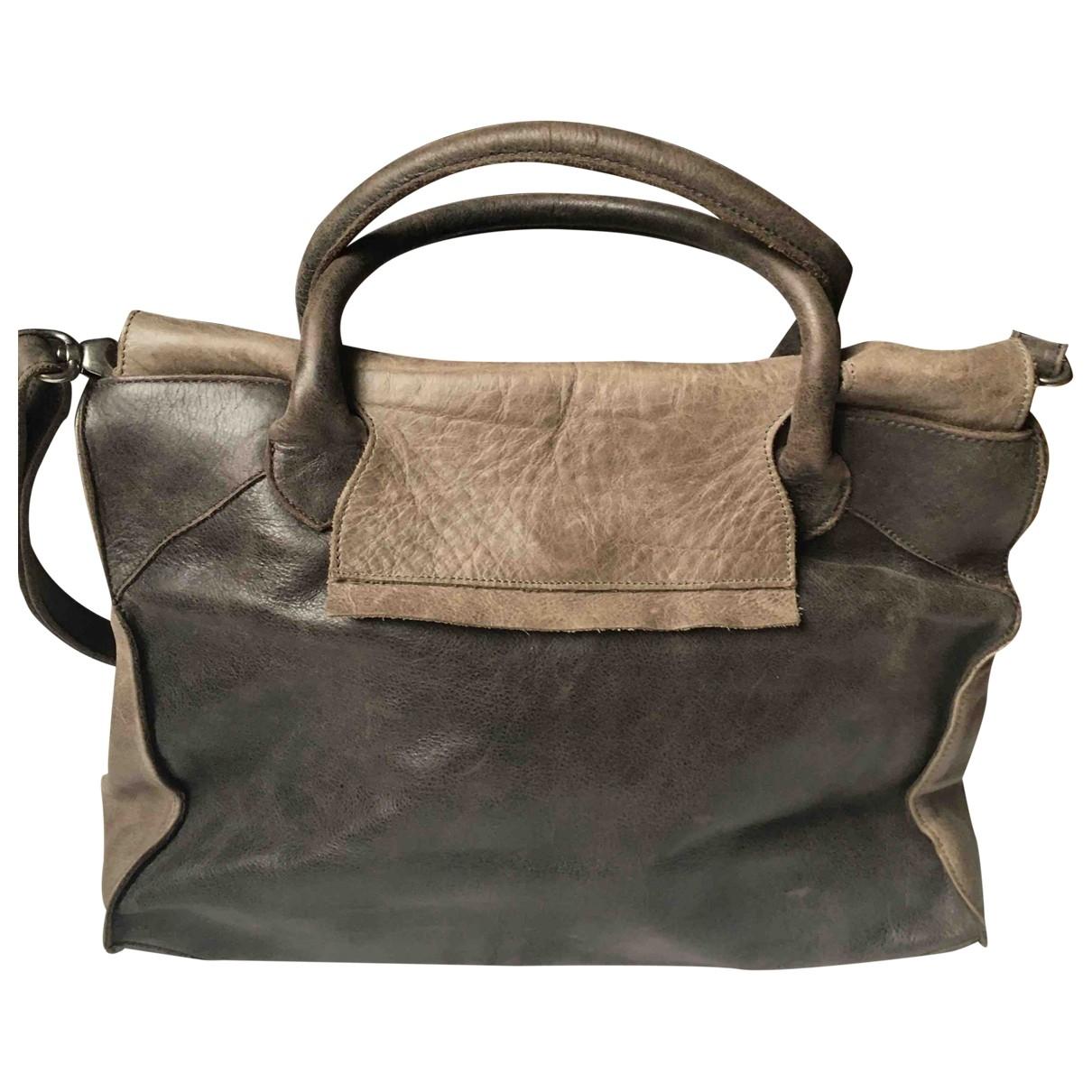 Aridza Bross \N Anthracite Leather handbag for Women \N