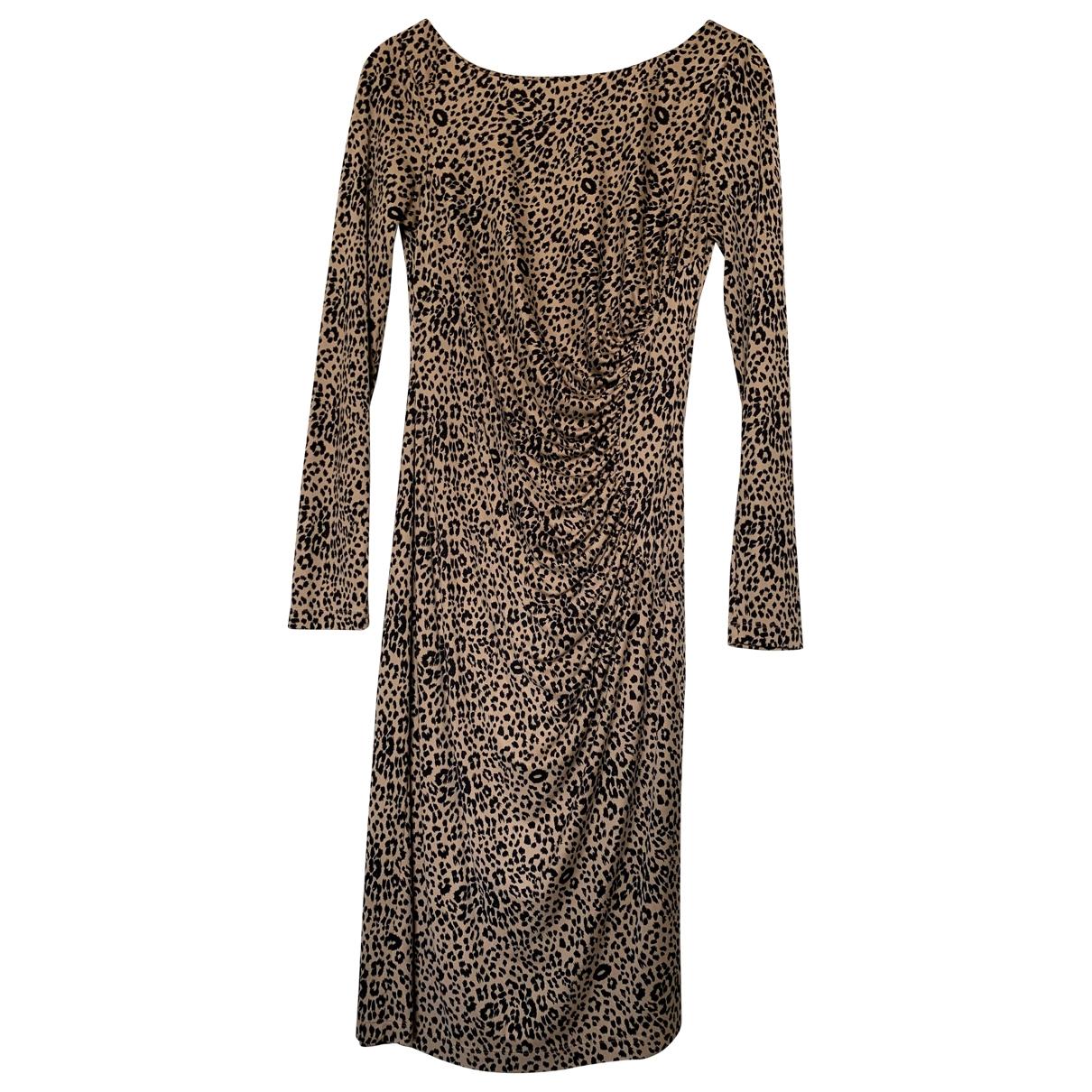 Lk Bennett - Robe   pour femme en soie - camel