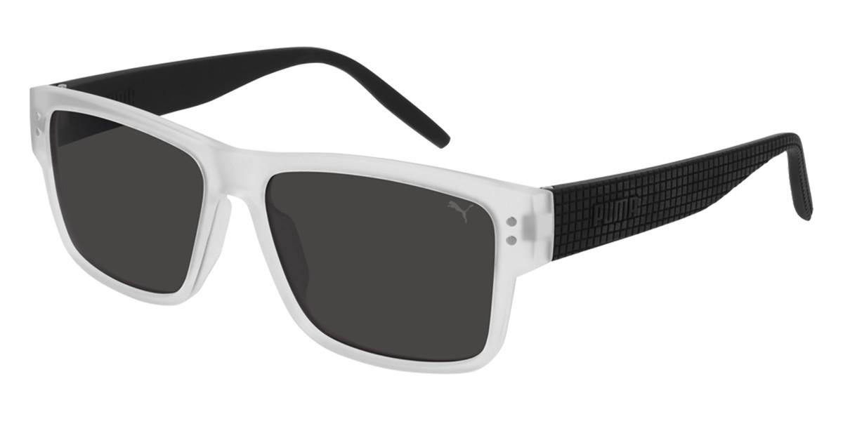 Puma PU0269S 003 Men's Sunglasses Clear Size 57 - Free RX Lenses