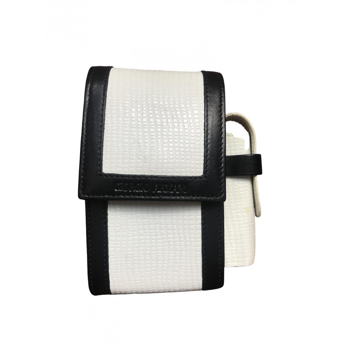 Giorgio Armani - Accessoires   pour lifestyle en cuir - blanc
