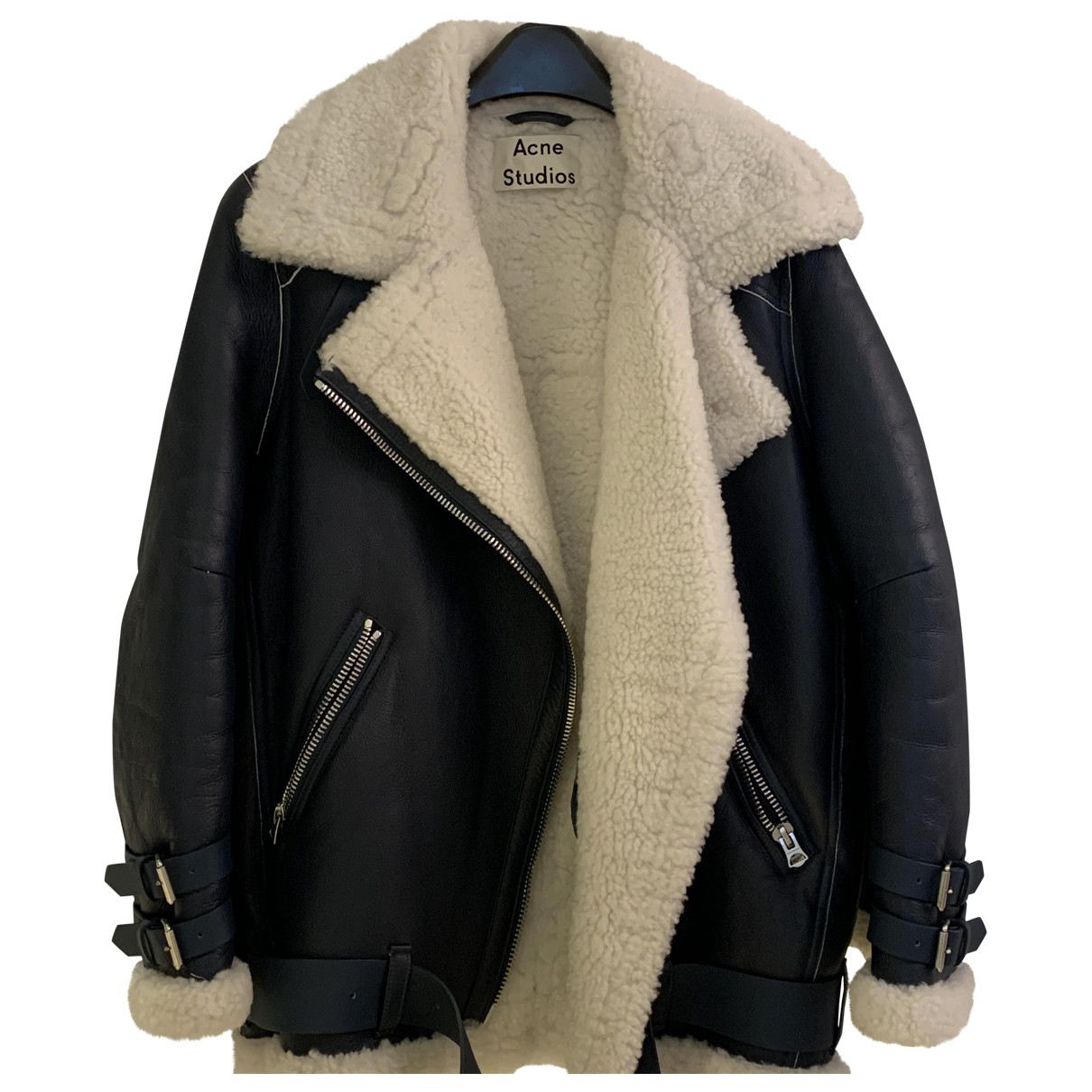 Acne Studios Velocite Navy Leather Leather jacket for Women 34 FR