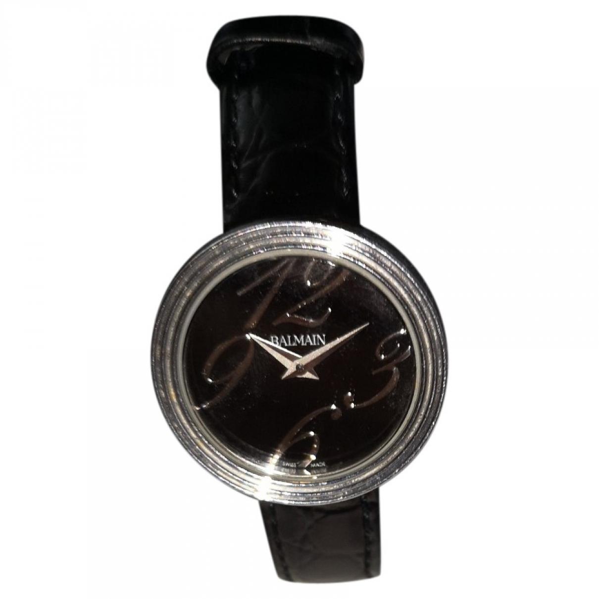 Balmain \N Uhr in  Schwarz Stahl