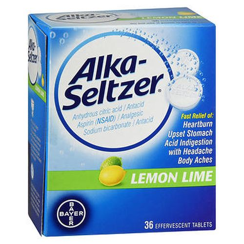 AlkaSeltzer Effervescent Tablets Lemon Lime 36 Tabs by AlkaSeltzer