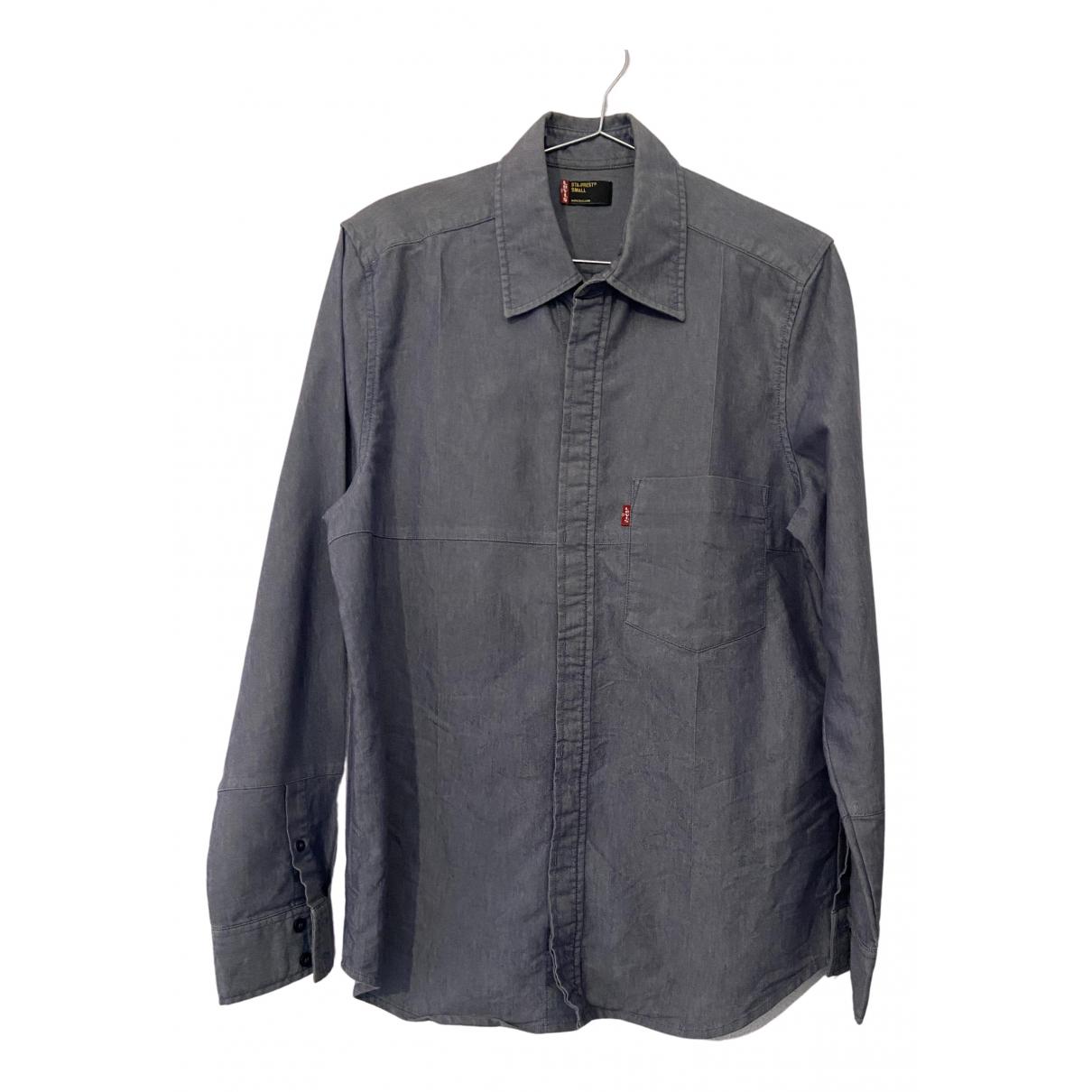 Levis - Chemises   pour homme en coton - gris