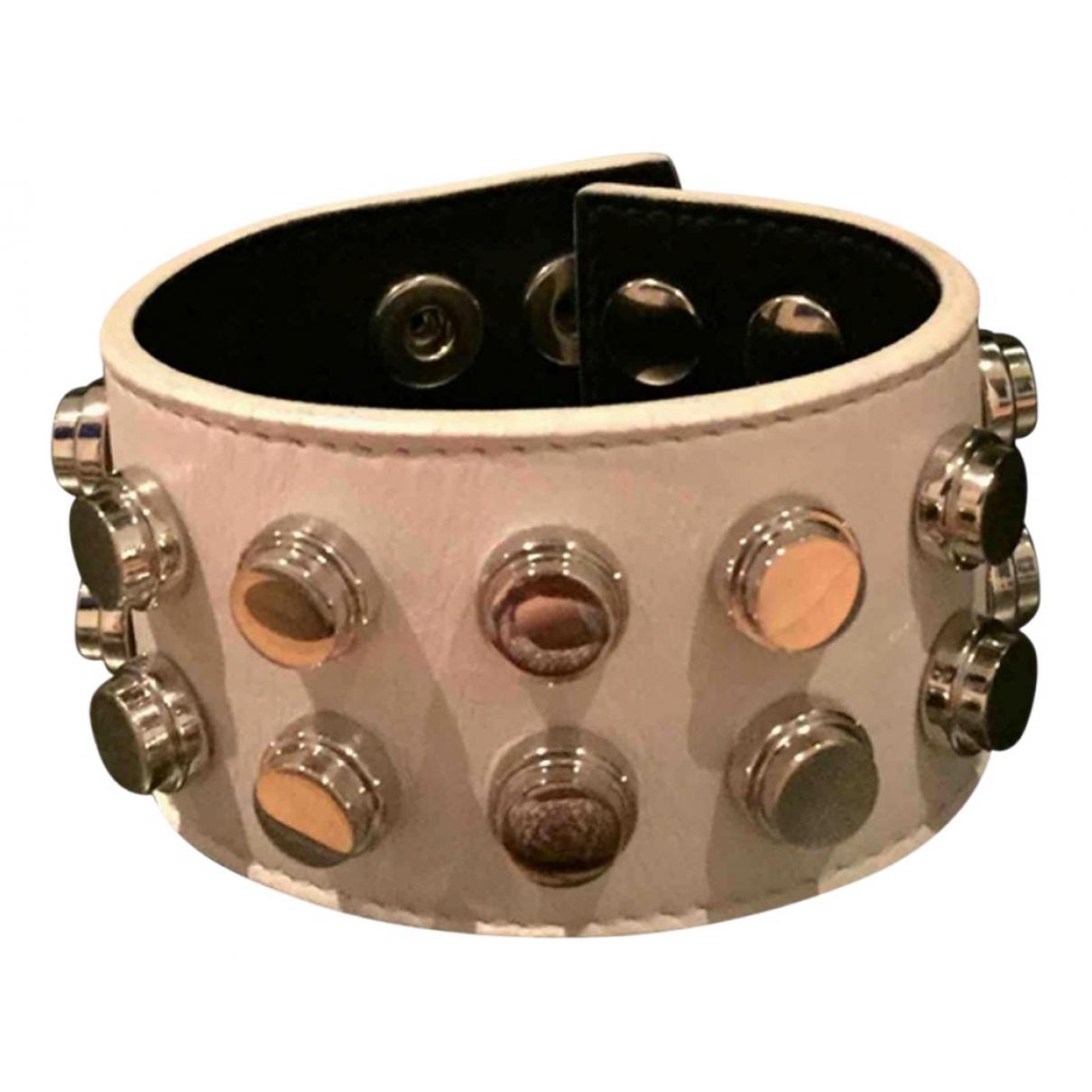 Yves Saint Laurent \N White Leather bracelet for Women \N