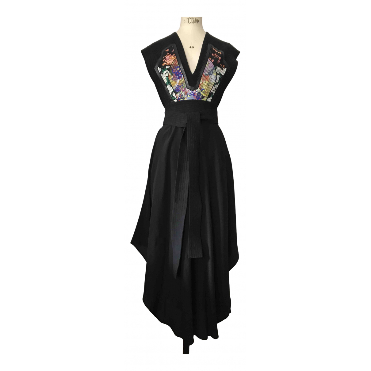 Stella Mccartney - Robe   pour femme en soie - noir