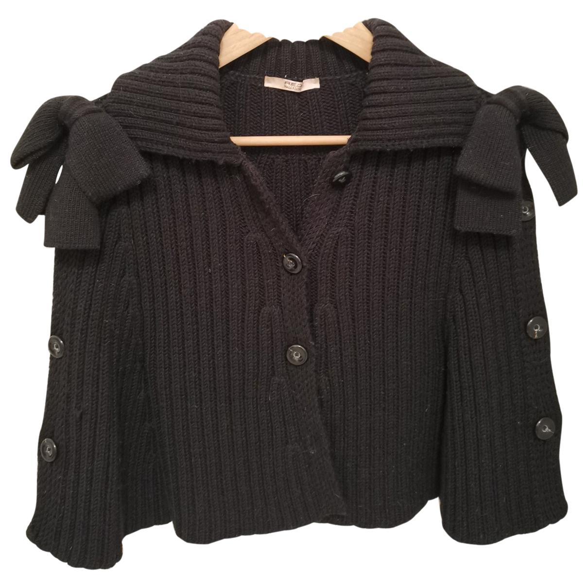 Red Valentino Garavani \N Pullover in  Schwarz Wolle
