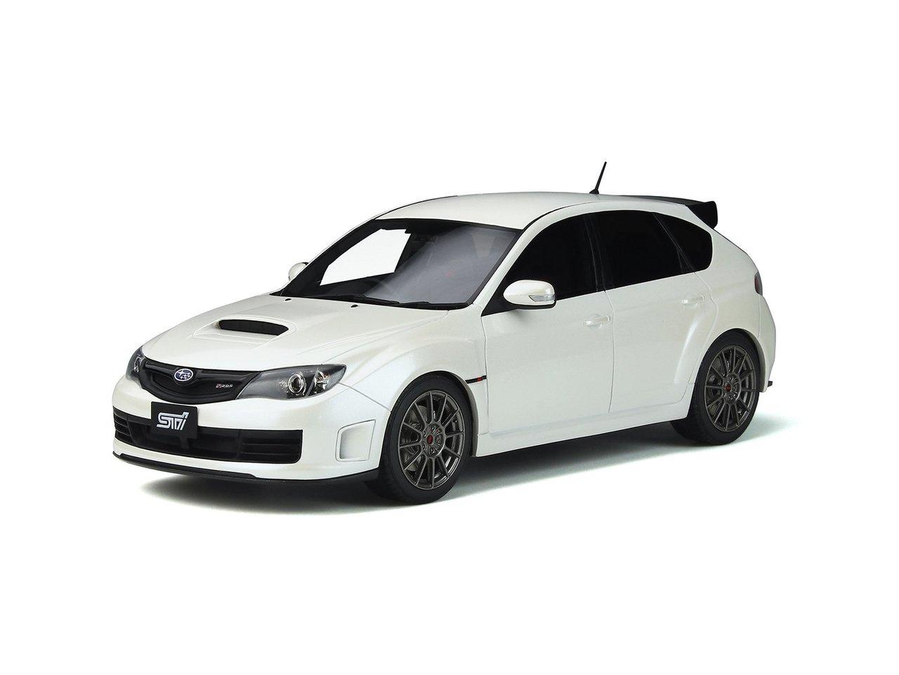 Subaru Impreza STI R205 Pure White Pearl Limited Edition to 999 pieces Worldwide 1/18 Model Car by Otto Mobile