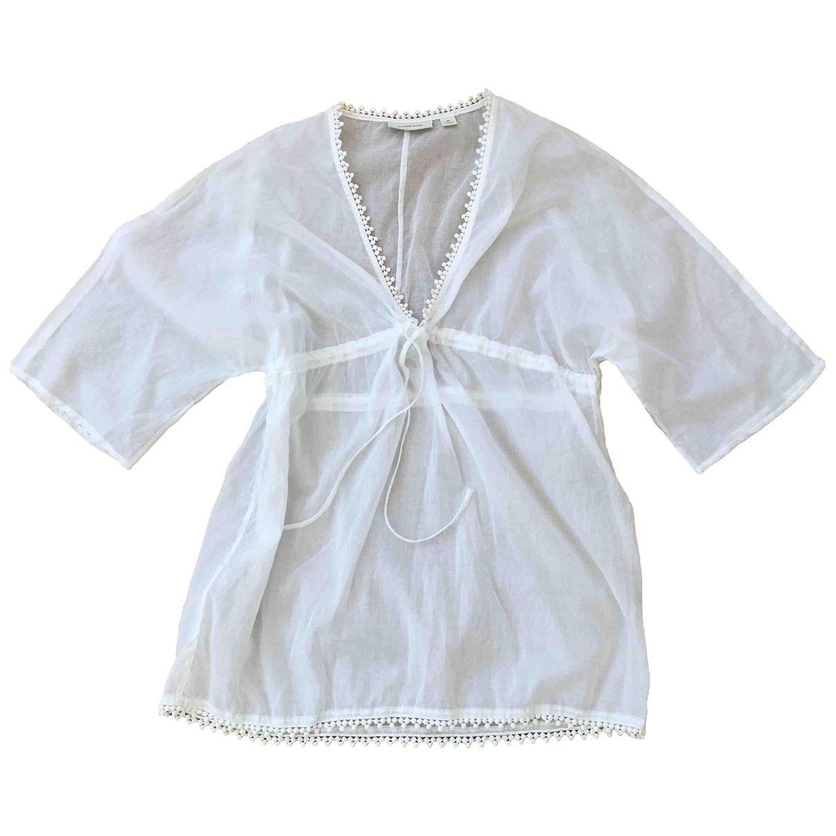 Country Road \N White Cotton  top for Women XS International