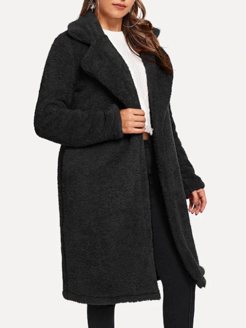 Ericdress Regular Loose Women's Long Overcoat