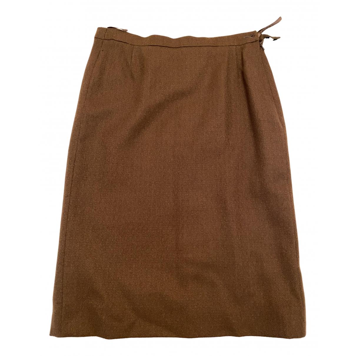 Burberry - Jupe   pour femme en laine - marron